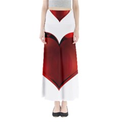 Heart Gradient Abstract Maxi Skirts