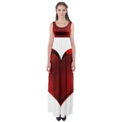 Heart Gradient Abstract Empire Waist Maxi Dress