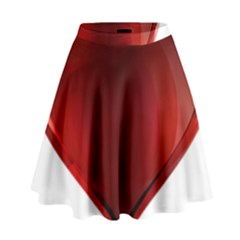 Heart Gradient Abstract High Waist Skirt