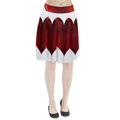Heart Gradient Abstract Pleated Skirt