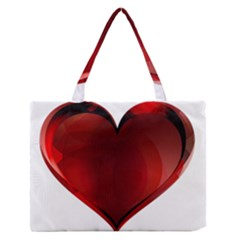 Heart Gradient Abstract Medium Zipper Tote Bag