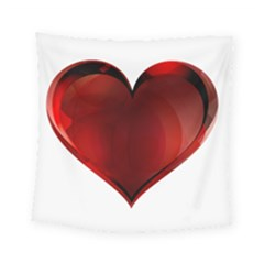 Heart Gradient Abstract Square Tapestry (small)