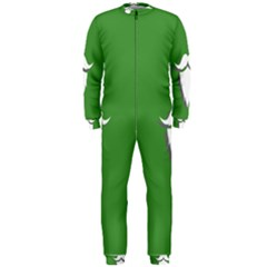 The Dude Beard White Green Onepiece Jumpsuit (men)