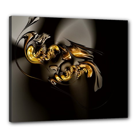 Fractal Mathematics Abstract Canvas 24  X 20