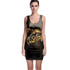 Fractal Mathematics Abstract Sleeveless Bodycon Dress