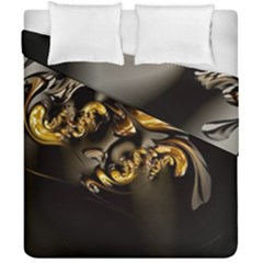 Fractal Mathematics Abstract Duvet Cover Double Side (california King Size)