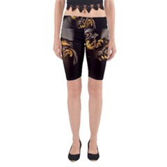 Fractal Mathematics Abstract Yoga Cropped Leggings