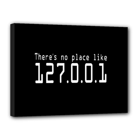 There s No Place Like Number Sign Canvas 16  X 12
