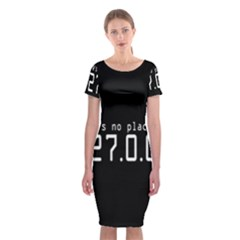 There s No Place Like Number Sign Classic Short Sleeve Midi Dress
