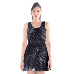 Fractal Mathematics Abstract Scoop Neck Skater Dress