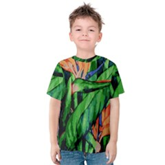 Flowers Art Beautiful Kids  Cotton Tee