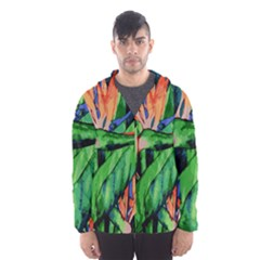 Flowers Art Beautiful Hooded Wind Breaker (men)