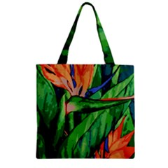 Flowers Art Beautiful Zipper Grocery Tote Bag