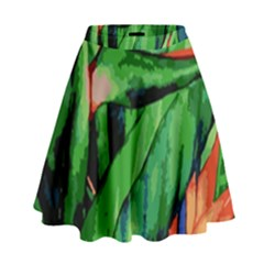 Flowers Art Beautiful High Waist Skirt