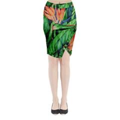 Flowers Art Beautiful Midi Wrap Pencil Skirt