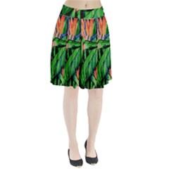 Flowers Art Beautiful Pleated Skirt
