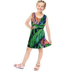 Flowers Art Beautiful Kids  Tunic Dress