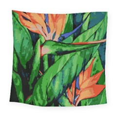 Flowers Art Beautiful Square Tapestry (large)