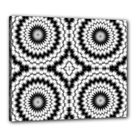 Pattern Tile Seamless Design Canvas 24  X 20