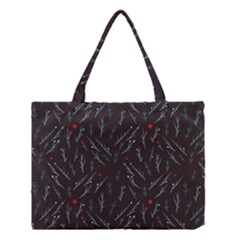 Tree Twigs Spot Blue Grey Medium Tote Bag
