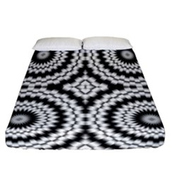 Pattern Tile Seamless Design Fitted Sheet (california King Size)