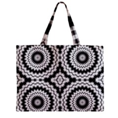 Pattern Tile Seamless Design Zipper Mini Tote Bag