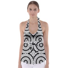 Pattern Tile Seamless Design Babydoll Tankini Top