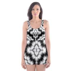 Pattern Tile Seamless Design Skater Dress Swimsuit