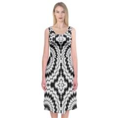 Pattern Tile Seamless Design Midi Sleeveless Dress