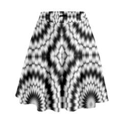 Pattern Tile Seamless Design High Waist Skirt