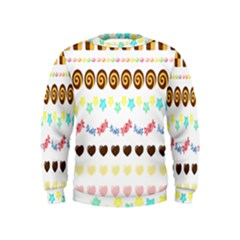Sunflower Plaid Candy Star Cocolate Love Heart Kids  Sweatshirt