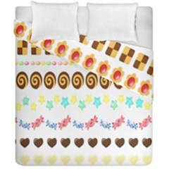 Sunflower Plaid Candy Star Cocolate Love Heart Duvet Cover Double Side (california King Size)
