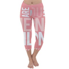 Valentines Day One Only Pink Heart Capri Winter Leggings