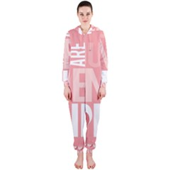 Valentines Day One Only Pink Heart Hooded Jumpsuit (Ladies)