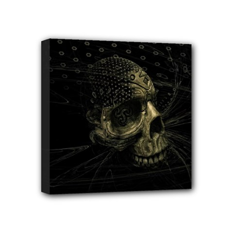 Skull Fantasy Dark Surreal Mini Canvas 4  X 4