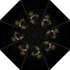 Skull Fantasy Dark Surreal Folding Umbrellas