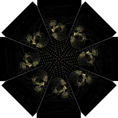 Skull Fantasy Dark Surreal Straight Umbrellas
