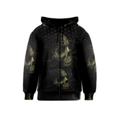Skull Fantasy Dark Surreal Kids  Zipper Hoodie