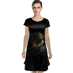 Skull Fantasy Dark Surreal Cap Sleeve Nightdress