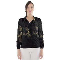 Skull Fantasy Dark Surreal Wind Breaker (women)