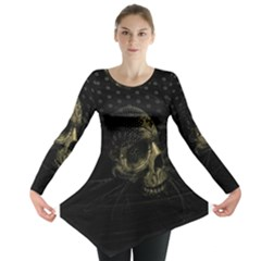 Skull Fantasy Dark Surreal Long Sleeve Tunic