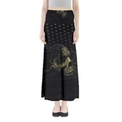 Skull Fantasy Dark Surreal Maxi Skirts