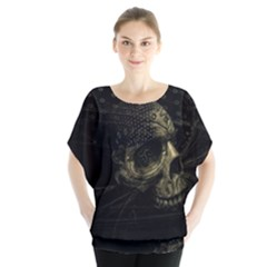 Skull Fantasy Dark Surreal Blouse