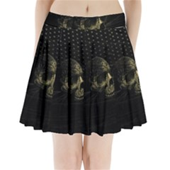 Skull Fantasy Dark Surreal Pleated Mini Skirt