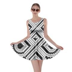 Pattern Tile Seamless Design Skater Dress