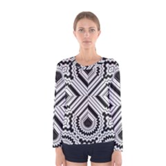 Pattern Tile Seamless Design Women s Long Sleeve Tee