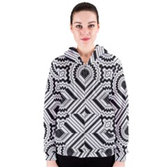 Pattern Tile Seamless Design Women s Zipper Hoodie
