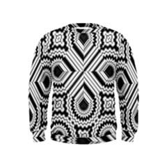 Pattern Tile Seamless Design Kids  Sweatshirt