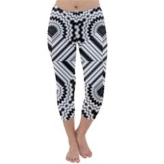 Pattern Tile Seamless Design Capri Winter Leggings