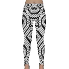Pattern Tile Seamless Design Classic Yoga Leggings